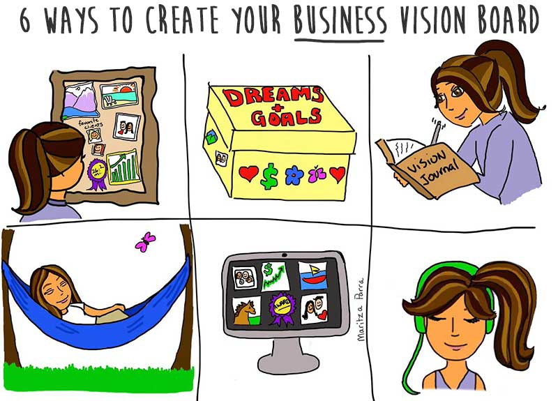 6 ways to create your business vision board