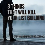 list building mistakes