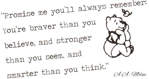 pooh bear bravery quote
