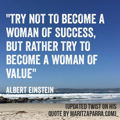 albert einstein value success quote