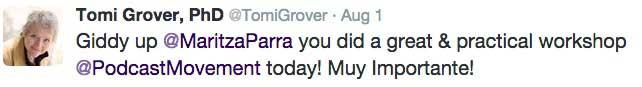 Tomi Grover tweet