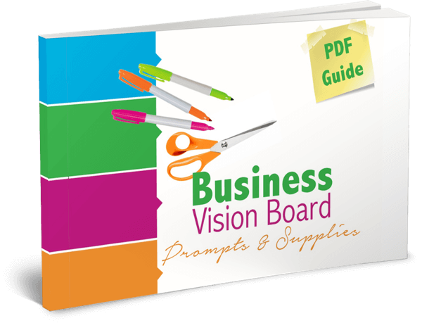 Business Vision Board prompts & supplies guide
