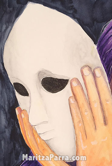 remove the mask you're hiding behind
