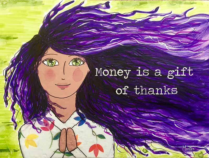 money is a gift of thanks