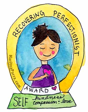 recovering perfectionist award