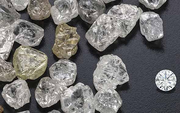 rough vs cut diamond