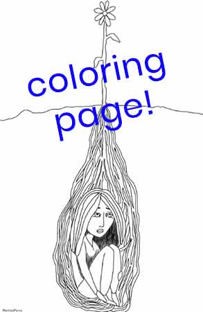planted coloring page download