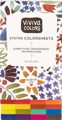 viviva colorsheet watercolor set
