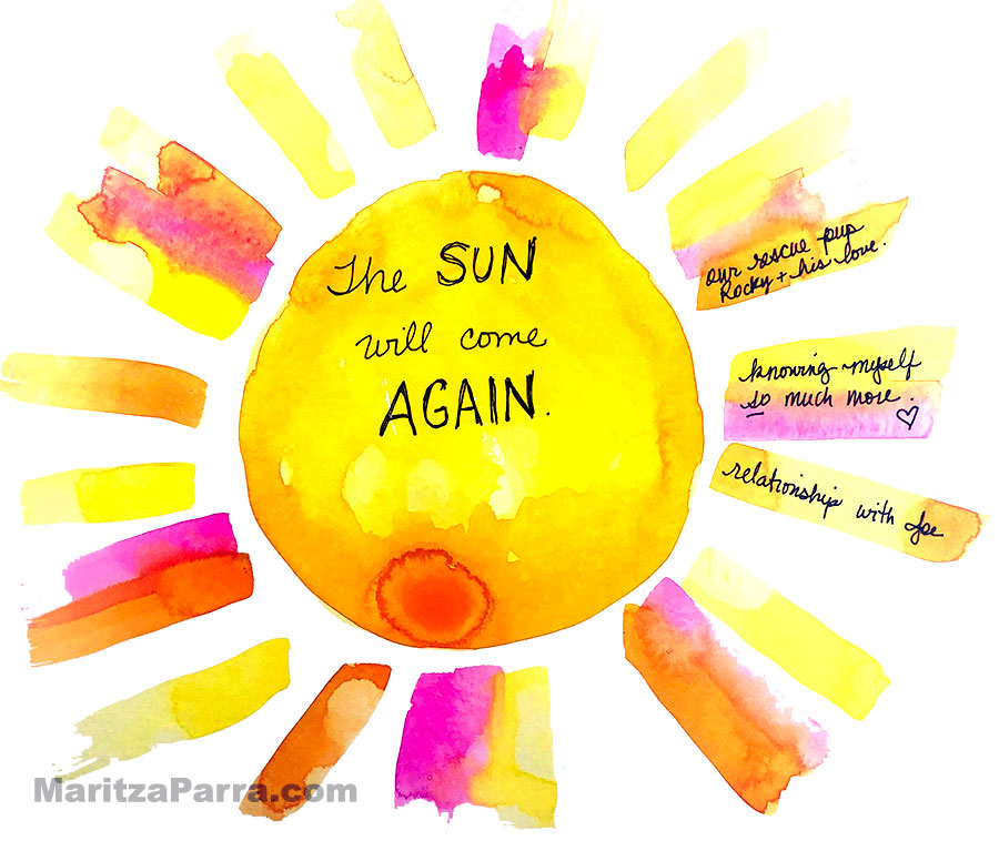 sun will come again doodle painting