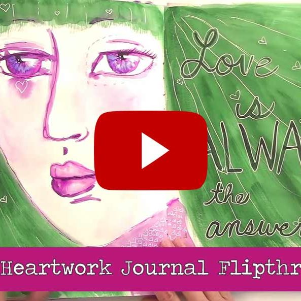heartwork journaling video flipthrough 2017
